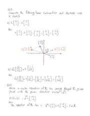 Ch 1Vector Spaces Practise Notes