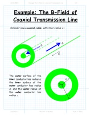 Example The B-Field of a Coaxial Transmission Line