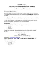 Information Technology for Managers - Case Study 1 - Individual.docx