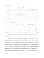 Great Articles And Essays By David Foster Wallace Okonkwo Tragic  Tragic Hero Antigone Essay Things Fall Apart Essay Okonkwo Tragic Hero Research Essay Proposal Example also Hiv Essay Paper  Thesis Persuasive Essay