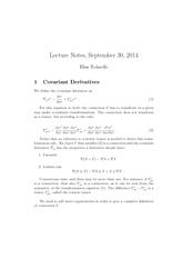 Study Guide on Covariant Derivatives
