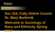 Welcome to Race and Ethnicity Spring 2014