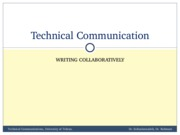 TechComm, Lecture 7 - Collaborative Writing