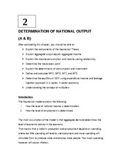 Topic 2  - Determination of National Output 2a -