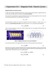 Exp # 210 - Magnetic Field - Electric Current.pdf