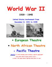 12 World War II student worksheets