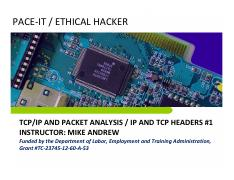 IP and TCP Headers 1
