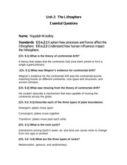 Unit 2 Essential Questions