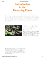 Introduction to the Flowering Plants