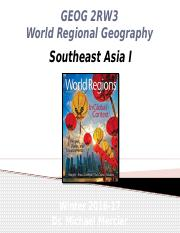 GEOG 2RW3 - Winter 2017 - Lecture 23 - World Regions IX - Southeast Asia I - student-A2L