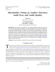 [ folder 5 ]   1. Shareholder Voting on Auditor Selection, Audit Fees, and Audit Quality.pdf