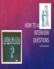 How to Answer Interview Questions mateo murphy