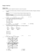 Math 9 Patterns Test