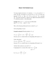 Calculus for Biology Class Notes 1