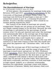 The Disestablishment of Marriage