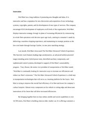 Innovation and expansion essay