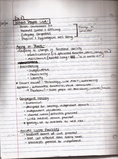 Class notes, Aging and Population