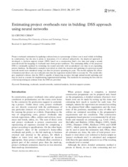 Estimating project overheads rate in bidding_ DSS approach using neural networks