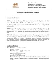 Solutions for PP9 PHYS 191 Fall 2014