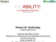DISAbility an integrationist approach 2011