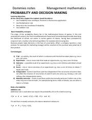 PROBABILITY AND DECISION MAKING NOTES.pdf