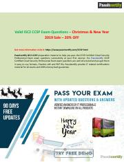 Christmas Deal 20% Discount Purchase ISC2 CCSP Exam Questions