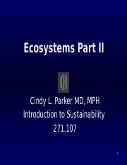 Ecosystems Part II 1-29-16 Revised