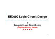 07S Sequential Logic Circuit Design