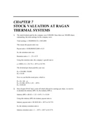 Case Solution - Topic 7 (Stock Valuation)