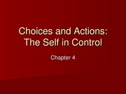 Choices and Actions (Chapter 4)
