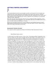 A01-Getting Started Assignment 2.docx