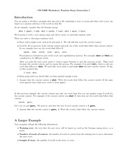random story 1 worksheet