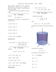 Final (as Midterm)-solutions