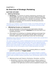 CHAPTER 1 An Overview of Strategic Marketing-2.docx