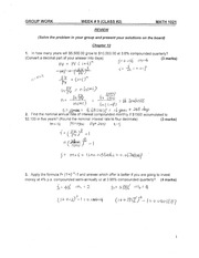 MATH1021, In-Class Practice  Questions for for Class #2 with notes