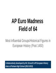 Field of 64 - AP Euro Madness