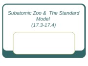 Physics-Subatomic Zoo & Standard Model