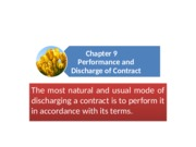 Chapter 9_Performance and Discharge of Contract