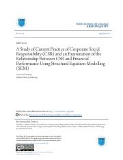 A Study of Current Practice of Corporate Social Responsibility (C.pdf