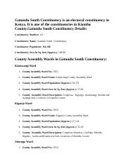 Gatundu South Constituency is an electoral constituency in Kenya.docx