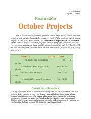 WD 3- October Projects.docx