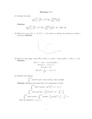 Vector Functions Class Notes Solutions