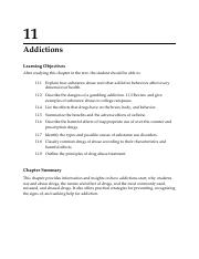 Ch 11 Lecture Outline 9th Ed ADDICTIONS