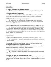 Body of Christ Brief Personal Interviews