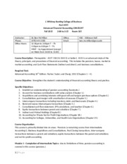 Fall 2015 - Advanced Accounting Syllabus