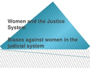 Women and the Justice System