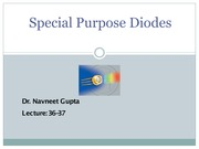 Lecture-36-37-Special Purpose Diodes-I