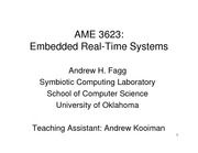 Lecture Notes on Embedded Real-Time Systems