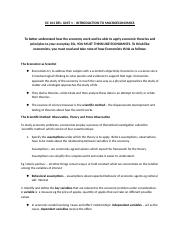 EC 101 DFL - Unit 1-What is Economics - Pleminary Notes to Introduction to.docx