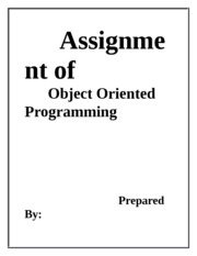 Assignment of OOP(T2)